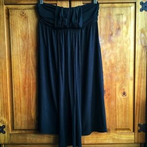 Rachel Pally Cameron Strapless Black Dress
